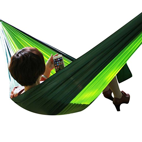 Hammocks Stands Accessories Outdoor Camping Parachute Cloth Double 250130cm (Color : B)
