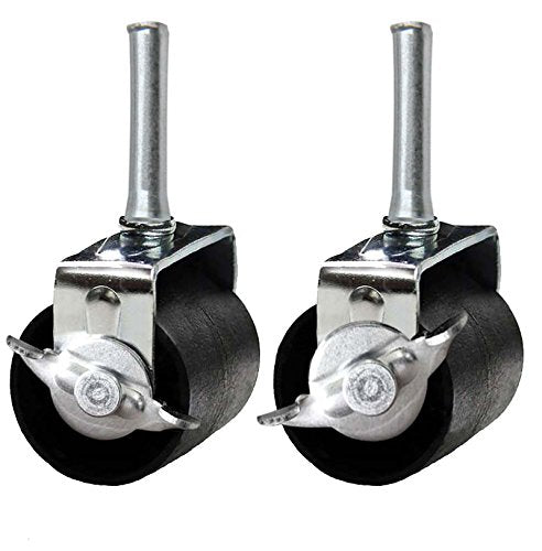 Khome A Set of 4 Heavy Duty Caster Wheels (Two Locking, Two None Locking) For Metal Bed Frame