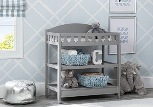 Delta Children Infant Changing Table with Pad, Grey