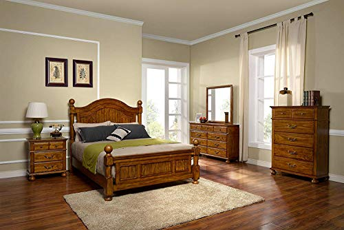 New Classic Furniture 00-145-15C Bishop Bedroom Set, King,
