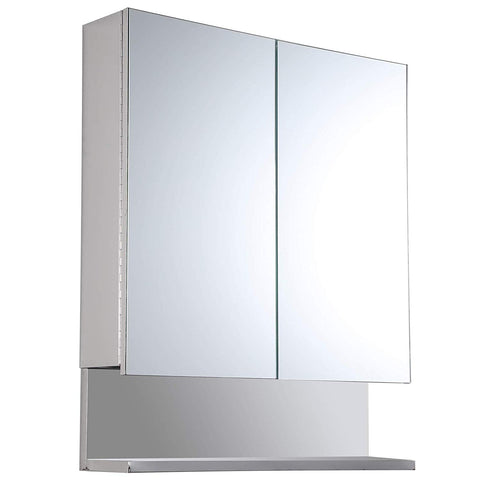 "kleankin 24"" x 28"" Stainless Steel Wall Mount Bathroom Medicine Cabinet with Mirror"