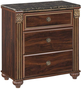 Ashley Furniture Signature Design - Leahlyn Nightstand - Antique Style - Rectangular - Warm Brown