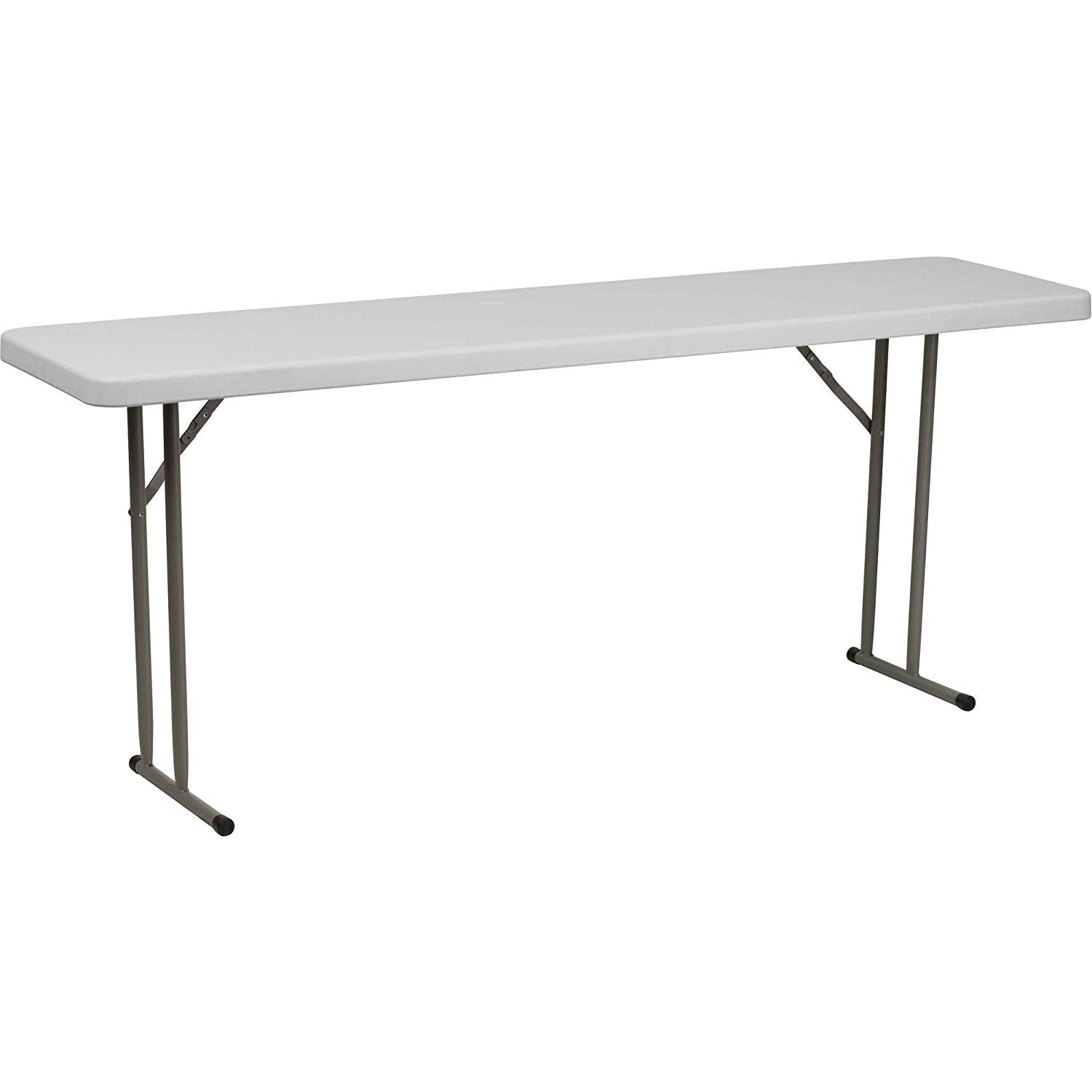 Flash Furniture 18''W x 72''L Granite White Plastic Folding Training Table [RB-1872-GG]
