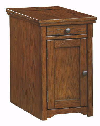 Ashley Furniture Signature Design - Laflorn Chairside End Table - Accent Side Table - Rectangular - Dark Brown