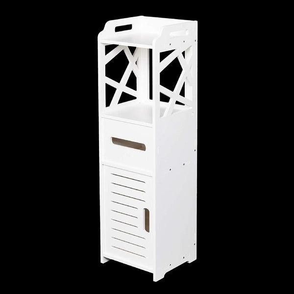 "2019 New Bathroom 8"" W x 31.5"" H Cabinet Bathroom Cabinets Multi Compartment 3-Tier Bathroom Storage Cabinet with 2 Doors Medicine Cabinets Bathroom Wall Cabinet Bathroom Shelves Bathroom Furniture"