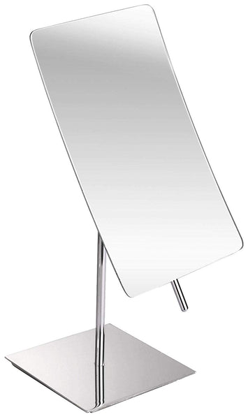 5X Magnified Premium Modern Rectangle Vanity Makeup Mirror 100% Guarantee | Portable Polished Chrome Contemporary Finish | Adjustable Easy Positioning | Best Luxury Quality...