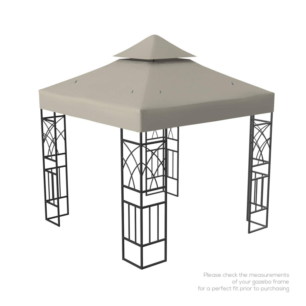 Kenley 2 Tier 10x10 Replacement Gazebo Canopy Awning Roof Top Cover A C Custom Furniture