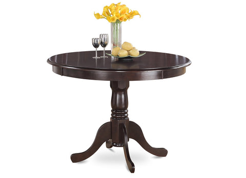 "East West Furniture HLT-BCH-TP Hartland Table 42"" Diameter Round Table & Cherry Finish, Black"