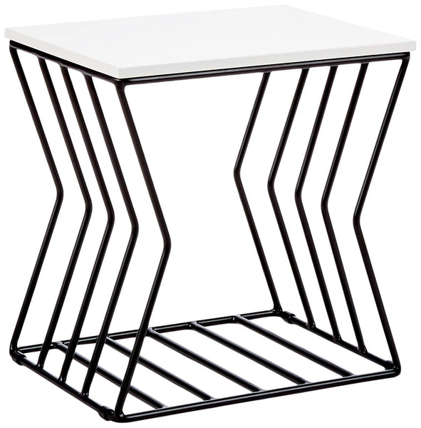 Now House by Jonathan Adler Convex Grid Accent Table,  Black and White