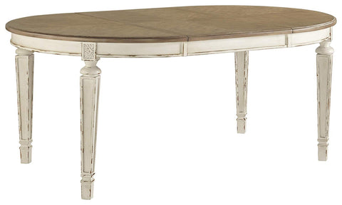 Signature Design by Ashley D743-35 Realyn Dining Room Table, Chipped White