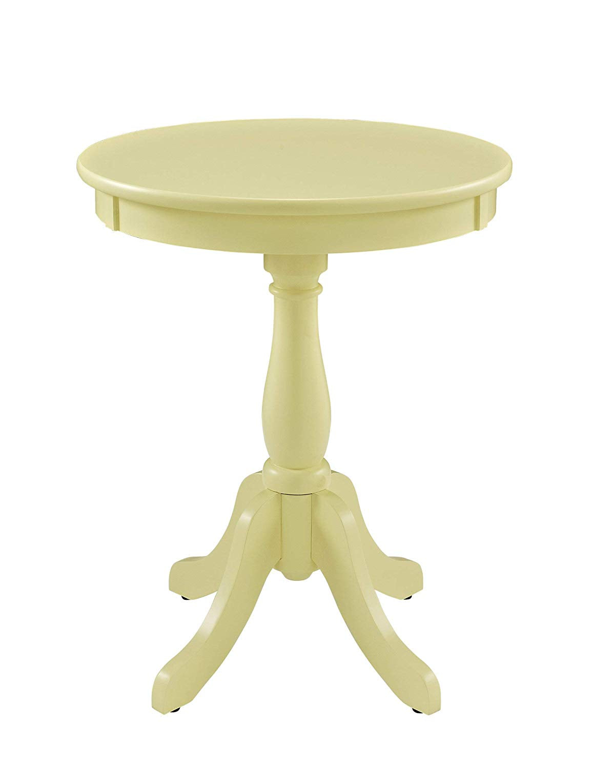 Powell's Furniture 929-711 Powell Round Accent, White Table,