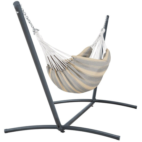 Classic Accessories Montlake FadeSafe Brazilian Hammock with Steel Stand, Fern Green Stripe
