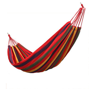 Hammocks Stands Accessories Canvas Outdoor Camping Swing Anti Rollover Chair 19080cm (Color : Red)