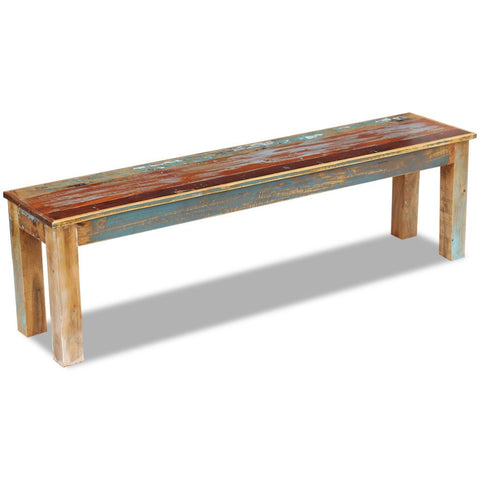 "Festnight Reclaimed Wood Bench for Home Kitchen or Entryway, 43.3""x 13.8""x 17.7"", Handmade"