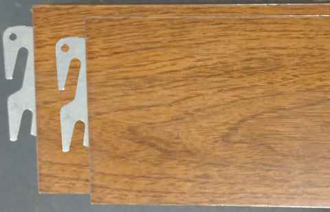"Vaughan-Bassett Queen or King 82"" Oak Hook-On Wooden Bed Rails. Set of Two. Includes Queen Wooden Rails and Slats"