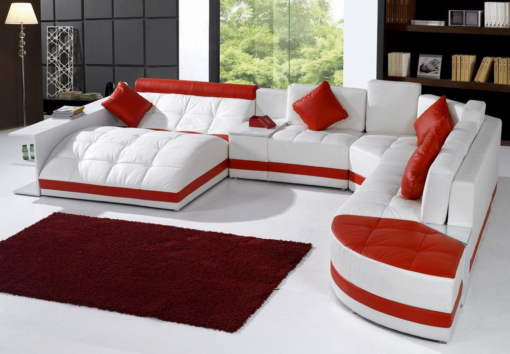 Tosh Furniture Miami Contemporary Sectional Sofa