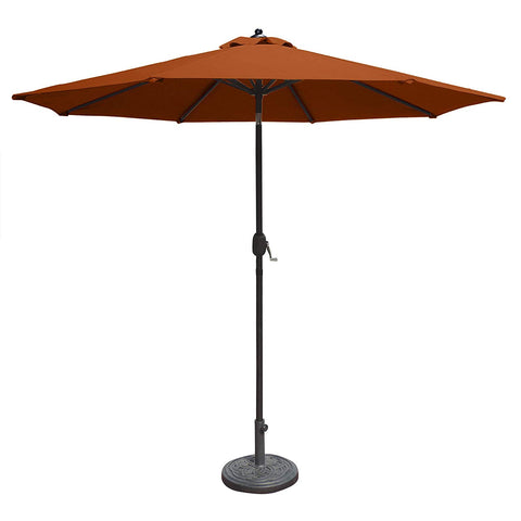 Island Umbrella N5422TC Mirage Octagonal Market Umbrella, 9', Terra Cotta Olefin