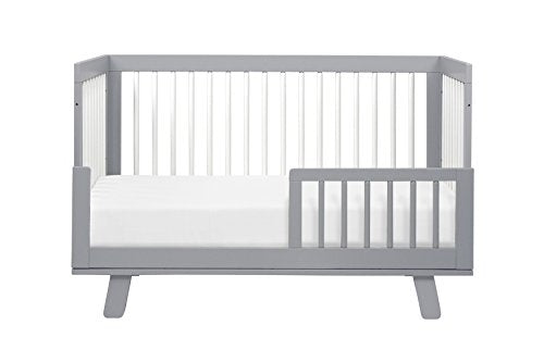 Babyletto Hudson 3-in-1 Convertible Crib with Toddler Bed Conversion Kit, Espresso / White
