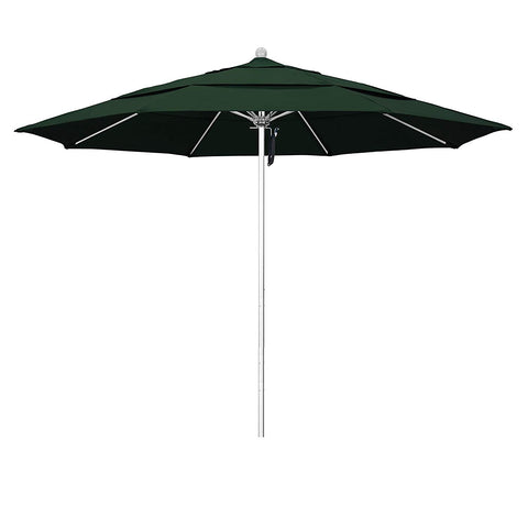 Phat Tommy 11 Ft Silver Anodized Commercial Patio Market Umbrella – for Shade