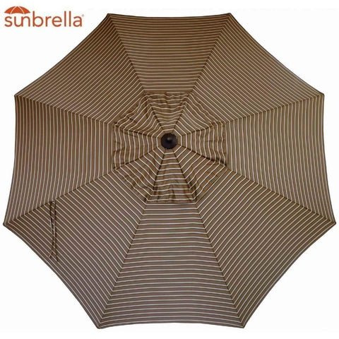 Sunbrella Replacement Canopy Umbrella Sunshade Canopy Top for 9 Ft 8-Rib Outdoor Patio Umbrella with Non Faded Sunbrella Fabric and UV Protection (Sunbrella, Cocoa Stripe)