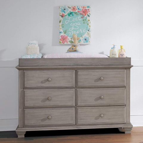 Oxford Baby Kenilworth 6 Drawer Dresser, Stone Wash