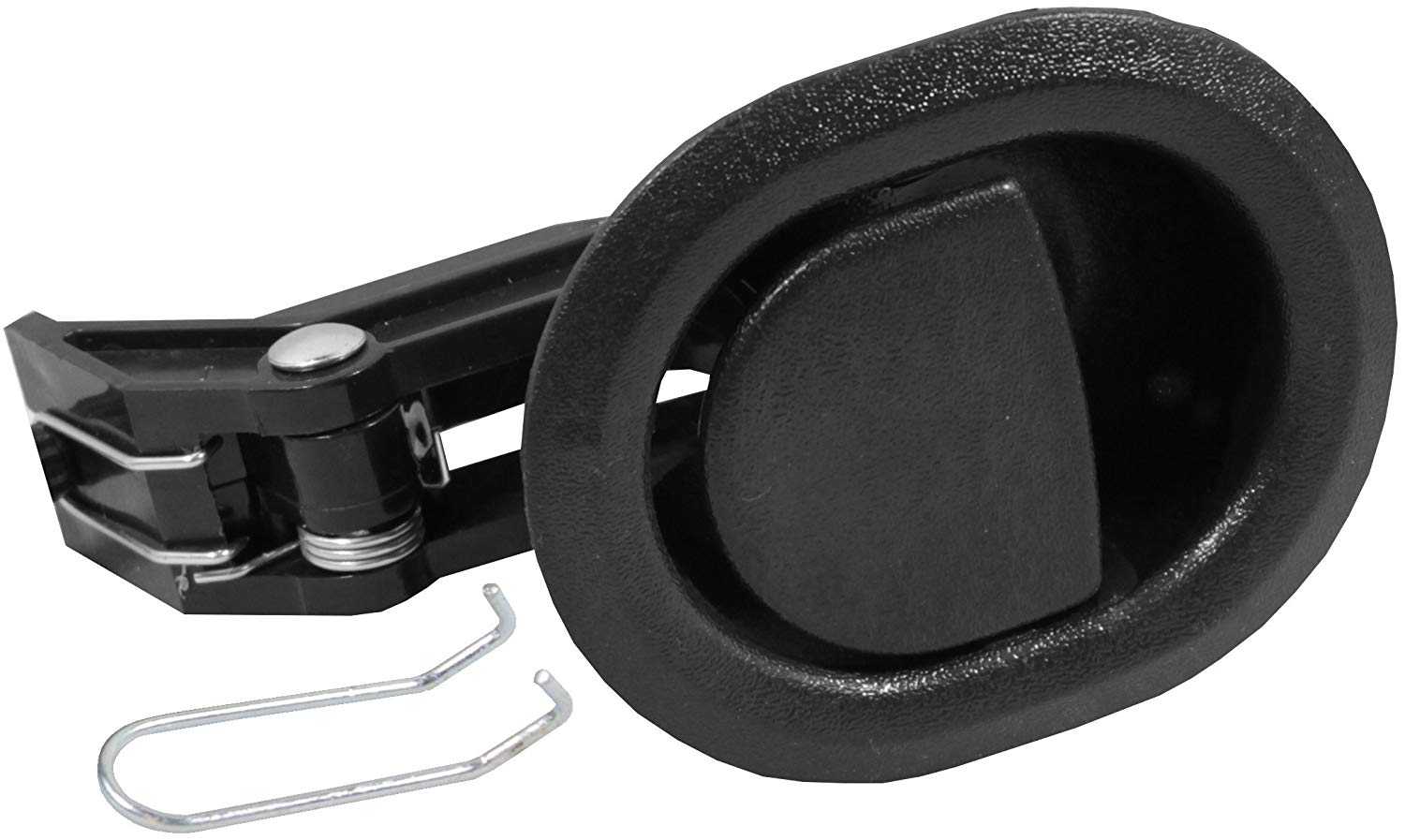 "Reliable Recliner Replacement Parts ★ HANDLE COMES WITH CABLE HOOK ★ Small Oval Black Plastic Pull Recliner Handle 3"" by 3.5"" fits Ashley and Other Manufacturer Brands. Handle Only - Fits both 3mm and 6mm Cables (Car Door Flapper Style) Chair Release Hand"