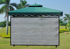 Shatex Attachment Umbrella Shade Screen Block 90% of UV Rays for Patio,Outdoor Umbrella W-6ft x L-7ft Frost Green