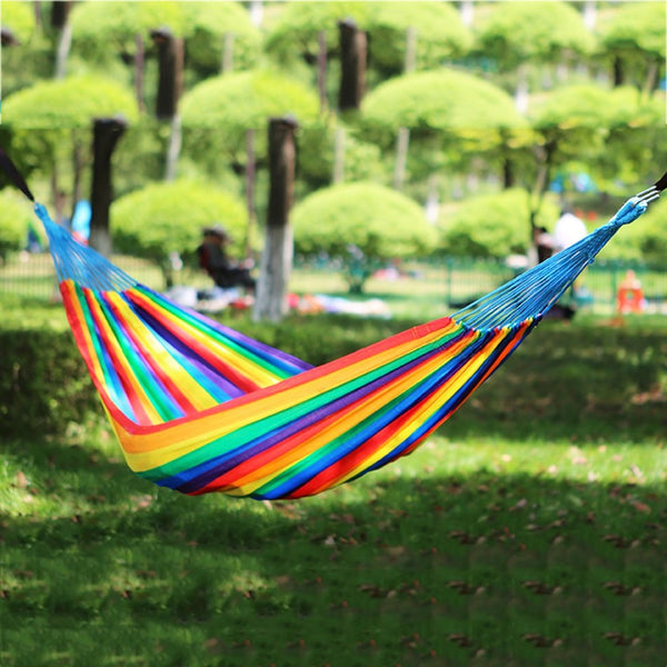 Hammocks Stands Accessories Outdoor Double Dormitory Balcony Swing Garden (Color : Seven Colors, Size : 310140cm)