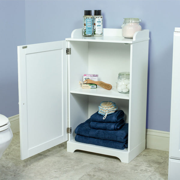 17.5-in. Wide Space Saver Bathroom Kitchen Storage Cabinet - White