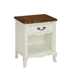 Home Styles 5518-42 The French Countryside Night Stand, Oak/Rubbed White