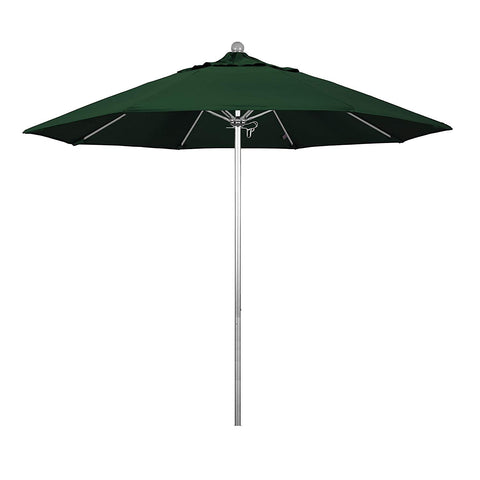 Phat Tommy 9 Ft Silver Anodized Commercial Patio Market Umbrella – For Shade, Tuscan