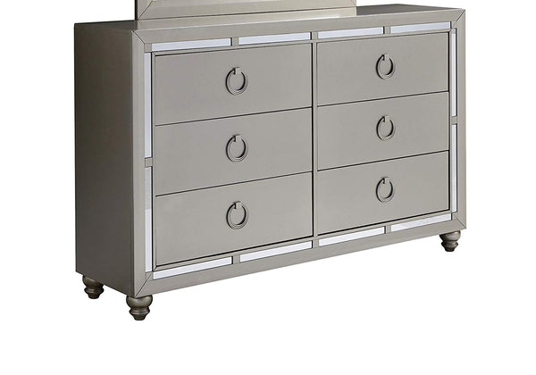 Global Furniture USA 1621 Riley Dresser, Silver
