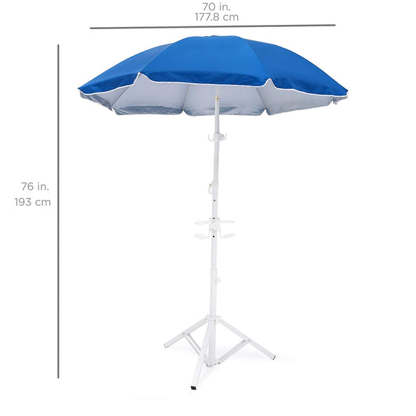 Best Choice Products Beach Umbrella with Tripod