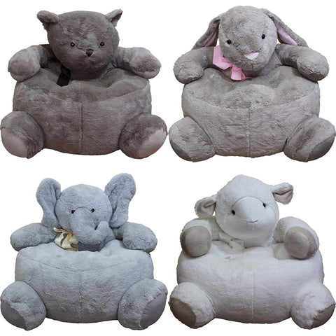 4 Animal Chairs Entire Room of Kids Furniture Bear Bunny Elephant and Sheep