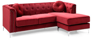 "Glory Furniture Pompano G789B-SC Sofa Sectional, Burgundy. Living Room Furniture 31"" H x 70"" W x 58"" D"