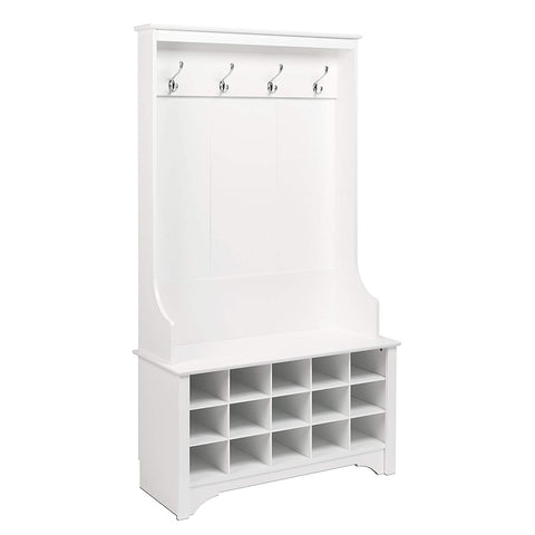 Prepac WSOG-0011-1 Shoe Storage Hall Tree, White