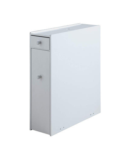Proman Products ZLMN46001 Bathroom Floor Cabinet Wood in Pure White