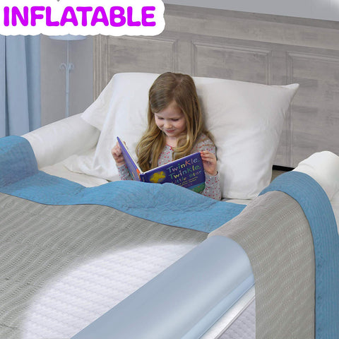 Inflatable Travel Bed Rail for Toddlers. Portable Bed Rail Bumper. Kids Safety Guard for Bed. Great for Home, Hotel, Travel (1-Pack)