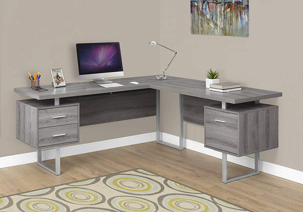 "Monarch Specialties I 7305 Computer Desk Left or Right Facing Capuccino 70""L"