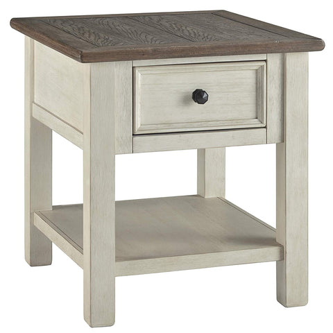 Ashley Furniture Signature Design - Bolanburg Rectangularside Table, Two-Tone