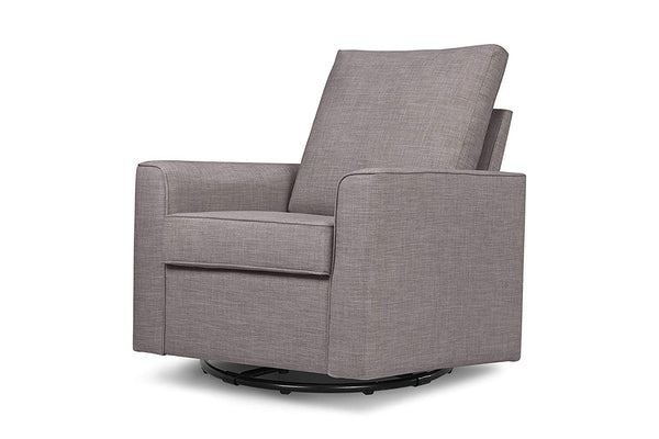 Million Dollar Baby Classic Alden Swivel Glider, Grey Tweed