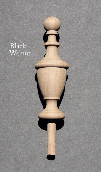 Wood Finial-Cherry-Oak-Maple-Walnut-Mahogany-Bed Post #62 (Cherry)