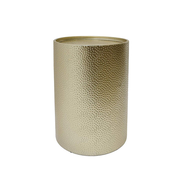 Great Deal Furniture 308947 Rache Modern Round Accent Table with Hammered Iron, Gold,