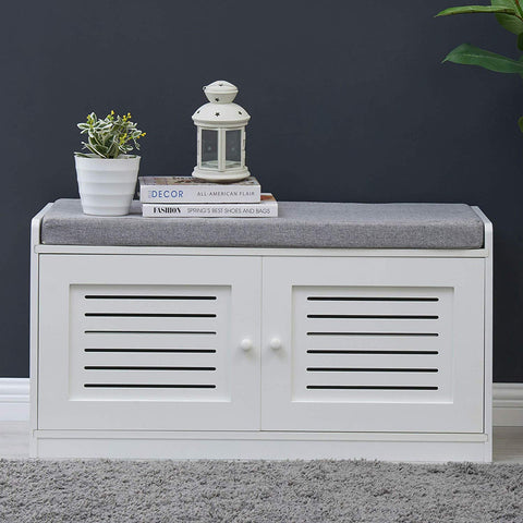 Bluemoon Shoe Storage Bench with Seating - for Comfort and Style- Perfect for Entryway First Impression!
