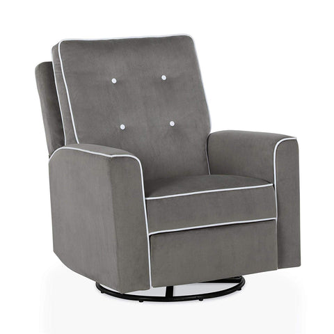 Baby Relax Cami Swivel Gliding Recliner, Gray