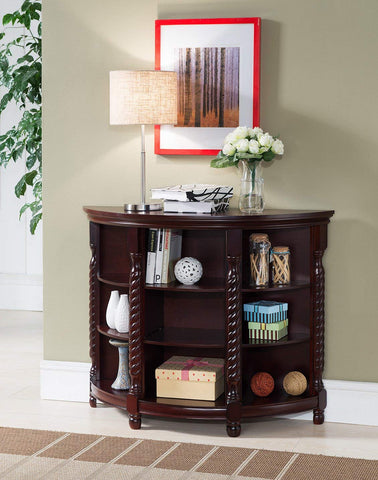 Kings Brand Furniture Wood Entryway Buffet Console Sofa Table, Cherry