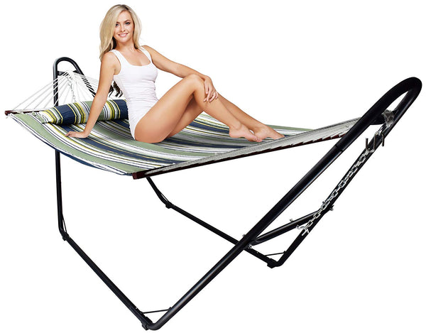 Sorbus Universal Multi-Use Steel Hammock Stand, Fits Hammocks 9 to 14 Feet Long, 500 Pound Capacity, Perfect for Indoor/Outdoor Patio, Deck, Yard