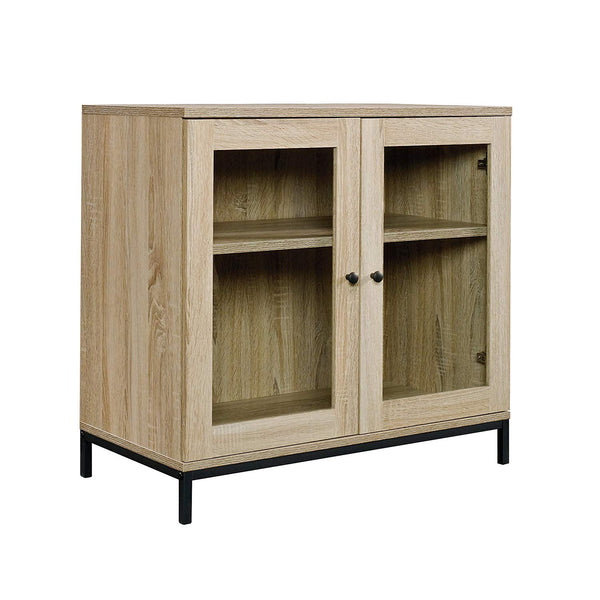 "Sauder 420035 North Avenue Display Cabinet, For For TVs up to 32"", Charter Oak finish"