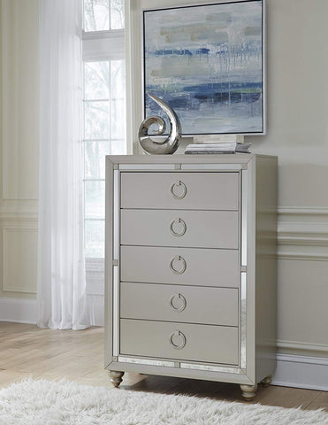 Global Furniture USA 1621 Riley Chest, Silver