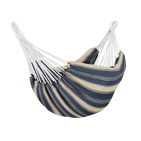 Classic Accessories Montlake FadeSafe Brazilian Hammock, Heather Indigo/Antique Beige with Classic Accessories 14.75-Foot Universal Heavy Duty Outdoor Steel Hammock Stand